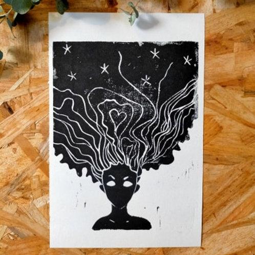 Affiche A5 Ma sorcière bien aimée