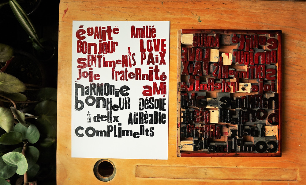 affiche typographique intervention scolaire