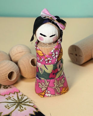 atelier créatif  japonais kokeshi