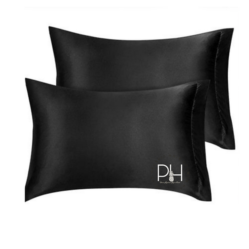 King size Satin pillowcase( Black)