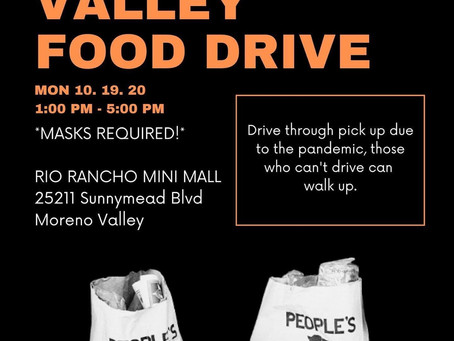 October's food drive mon 10.19.20
