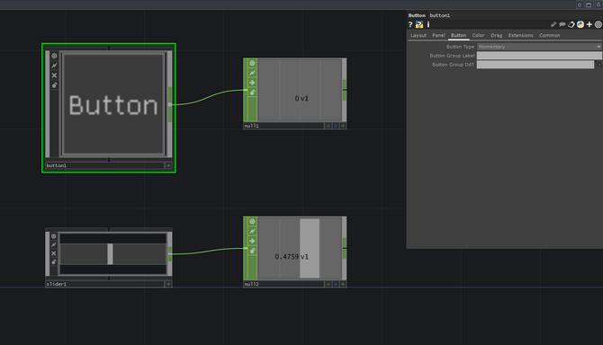 TouchDesigner 上で、UIを作成する