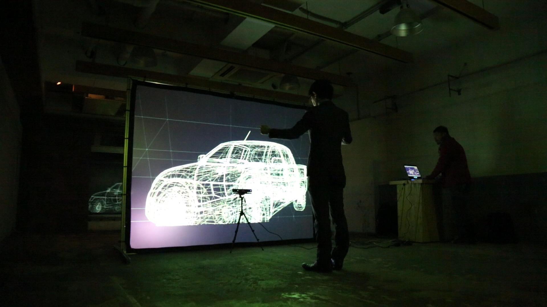 Gesture 3D model viewer demo