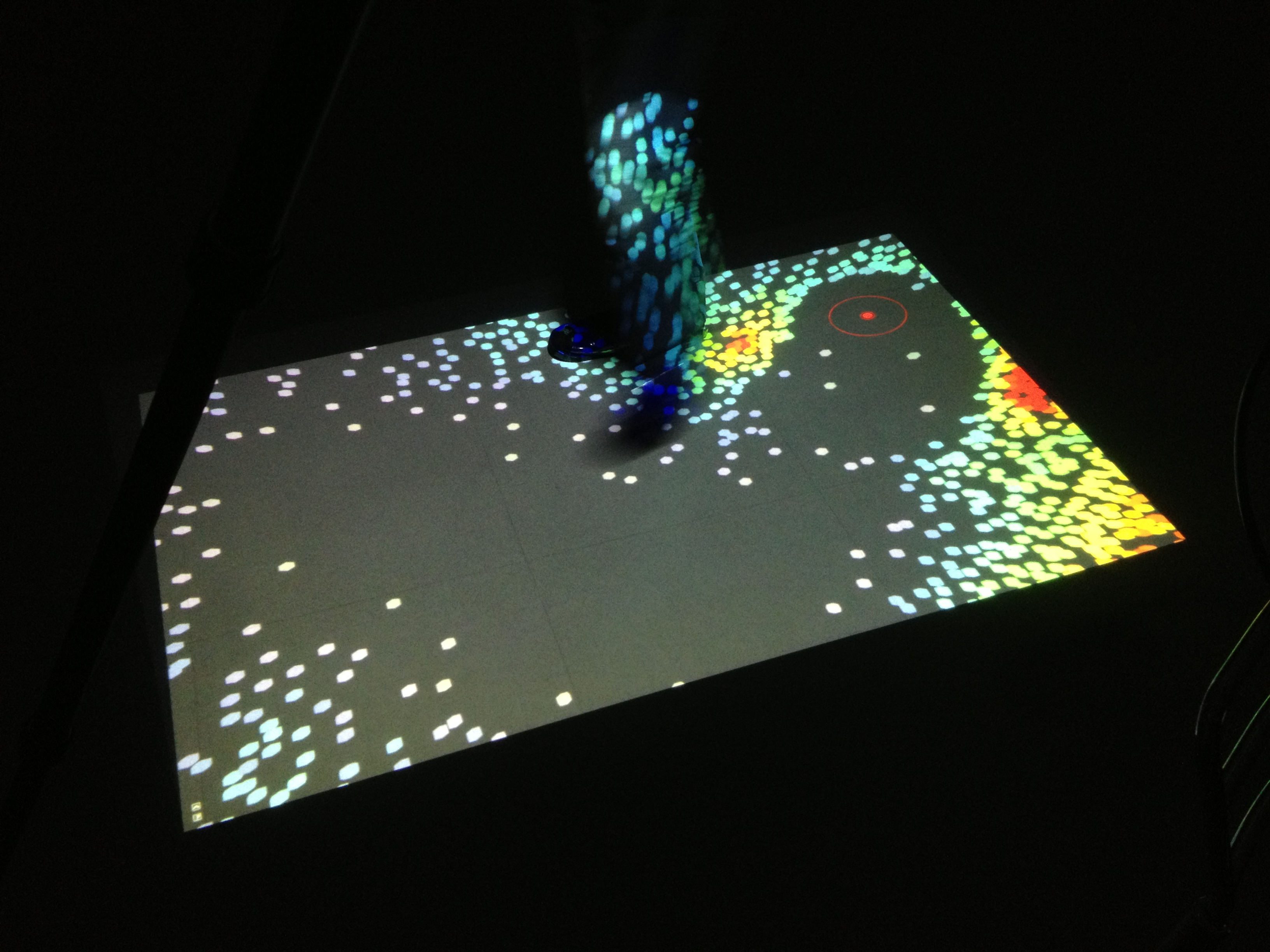 Interactive video installation with