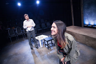 Theater Actress Nadia Mohebban in Source Festival's production of Collateral Damage