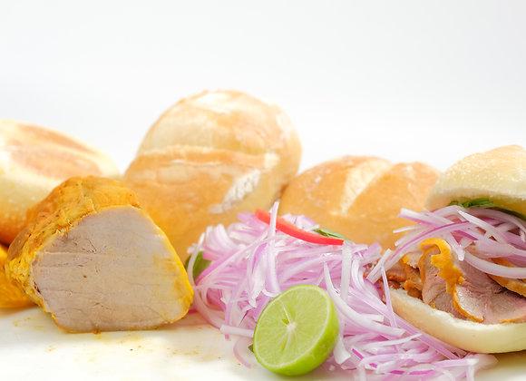 Desayuno Criollo 2 - 500g de Jamón del País, Sarza Criolla y 4 Panes Franceses