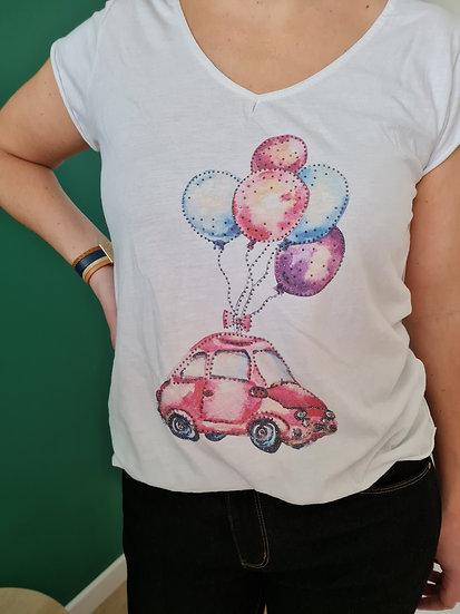 Tee shirt manche courte ballon