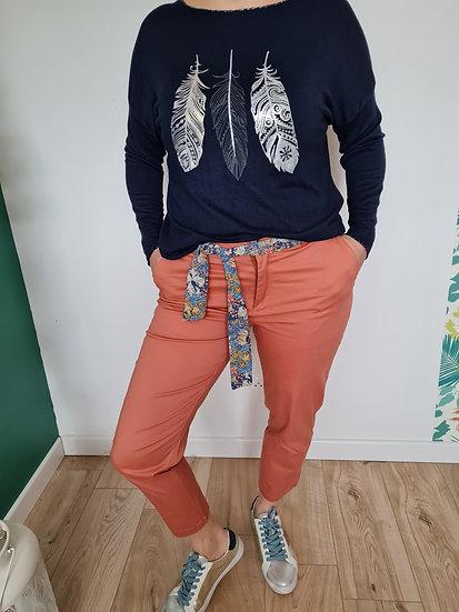 pantalon 7/8ème rose