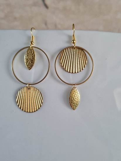 Boucles d'oreilles or coquillage