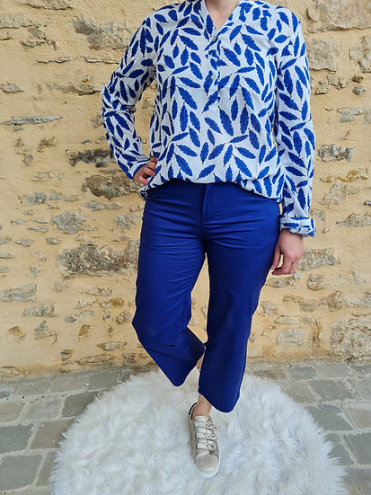 Pantalon 7/8 ème bleu