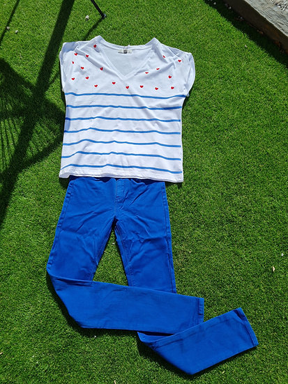Pantalon bleu roi