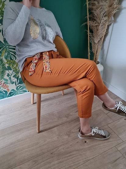 Pantalon 7/8 ème Orange