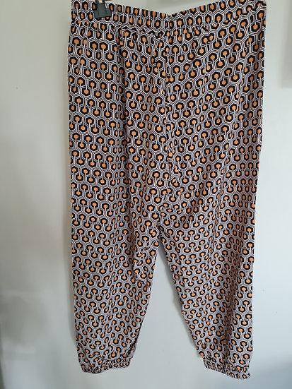 Pantalon fluide orange