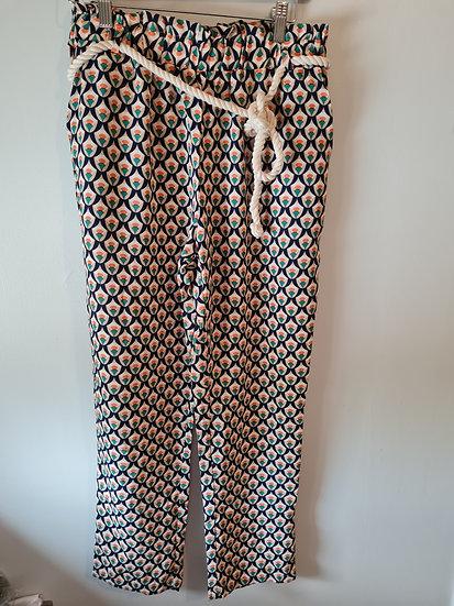 Pantalon fluide motif