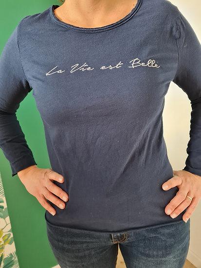 Tee shirt manche longue la vie est belle