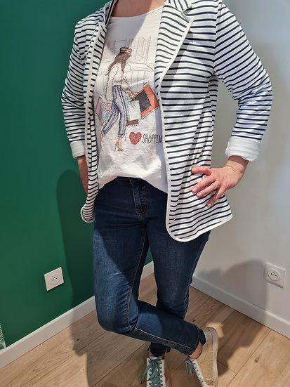 Tee shirt manche longue dame sac