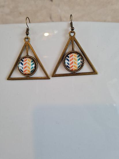 Boucles d'oreilles cabochon triangle