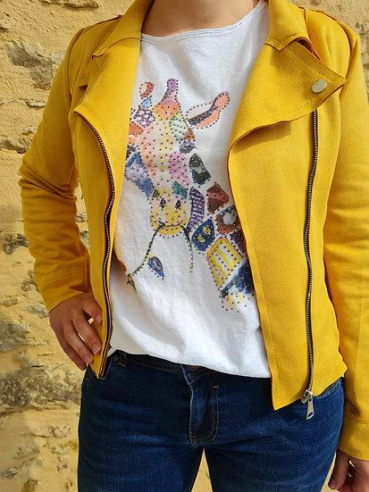 Tee shirt manche longue girafe