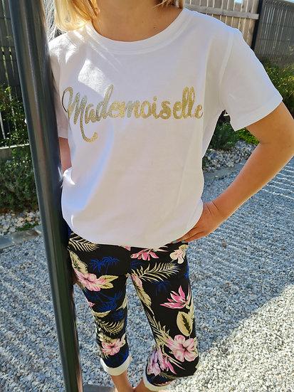 Tee shirt manche courte mademoiselle