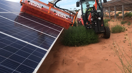 Solar Farm Solar Panel Cleaing Vehicle Terrain Navigation