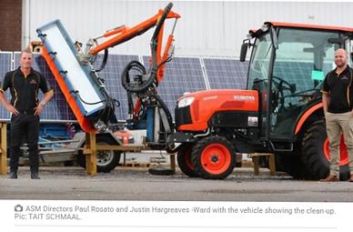 Australian Solar Maintenance Solar Farm Cleaning Vehicle