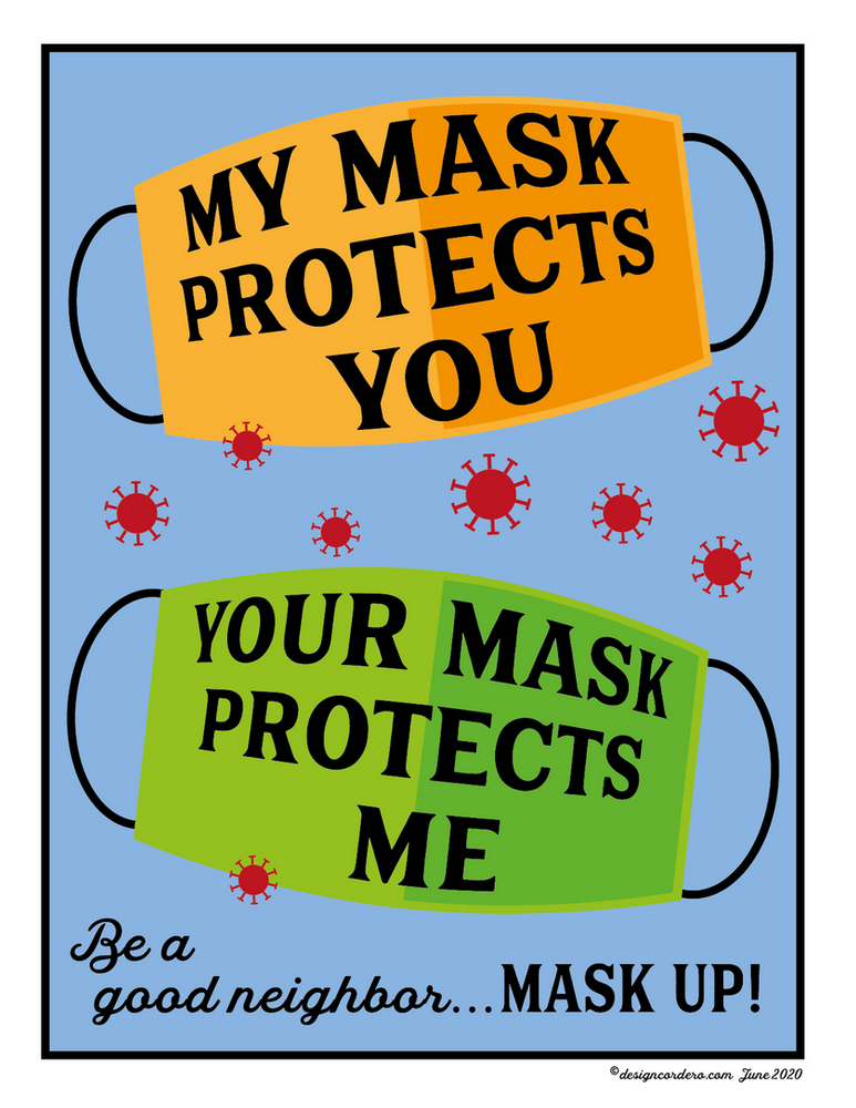 Masks protect