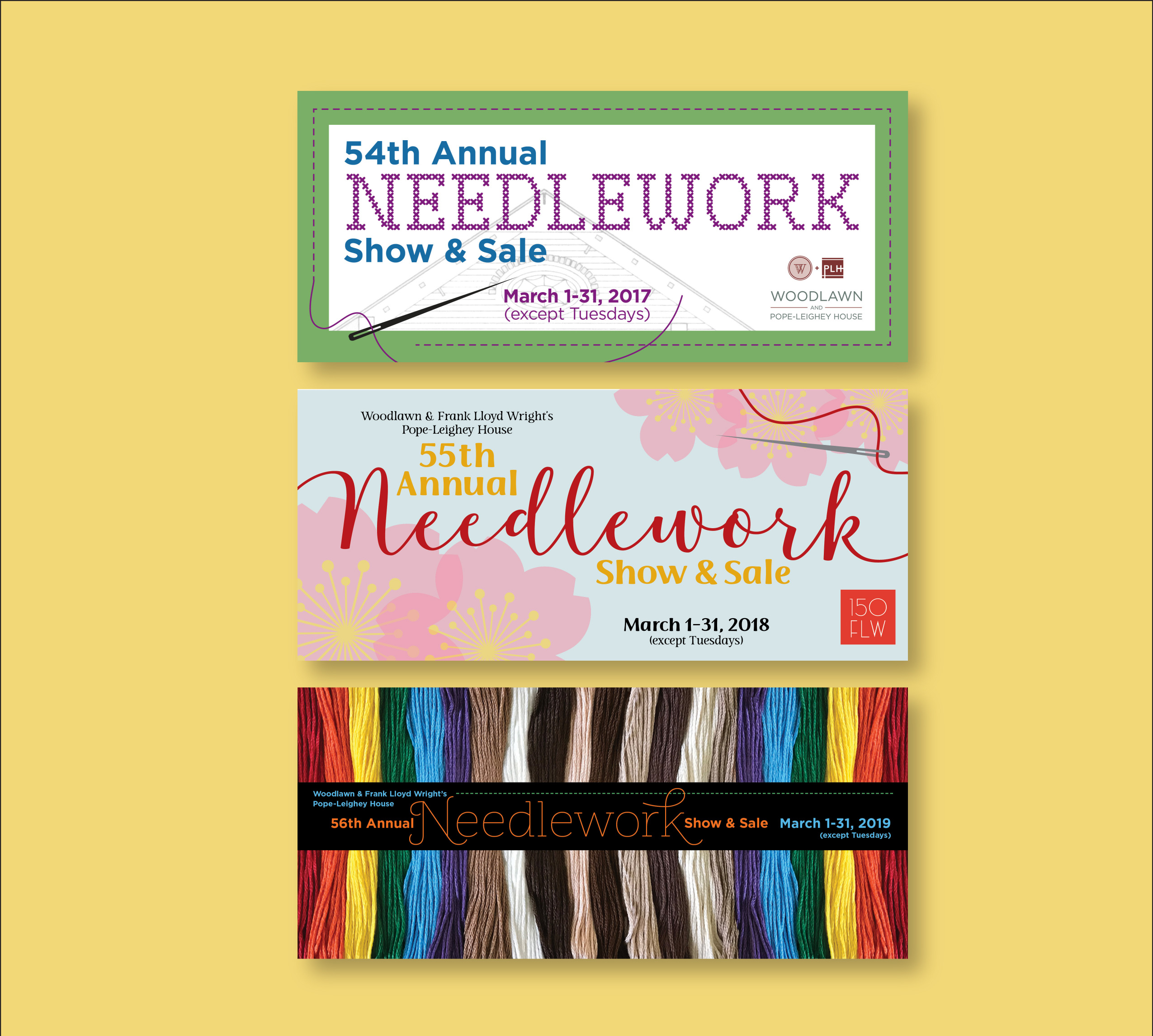 W+PL Annual Needlework mailers