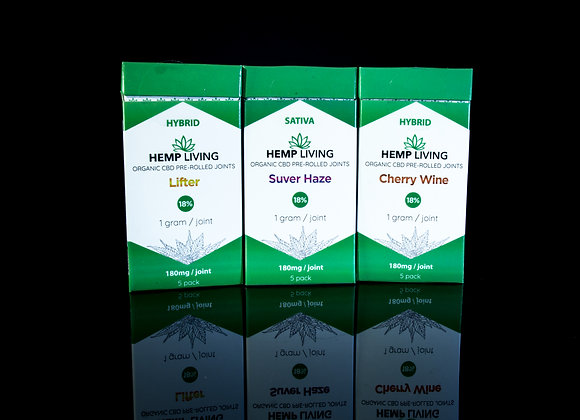 HEMP LIVING - Pre Rolled - Assorted Flavors - 5 count