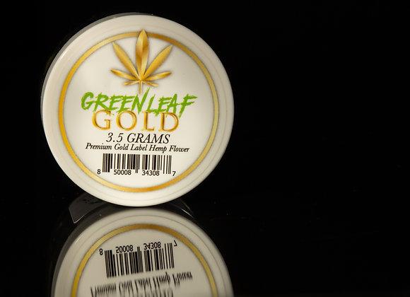 GREEN LEAF GOLD - Premium Gold Label Hemp Flower - 3.5 Grams