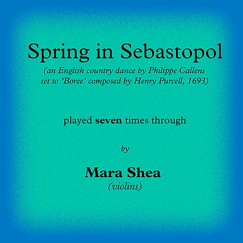 Spring in Sebastopol - an English country dance