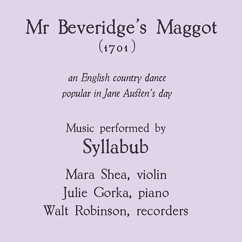 Mr Beveridge's Maggot - an English country dance