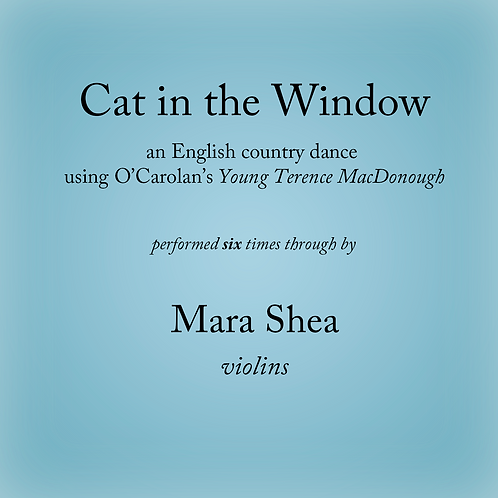 Cat in the Window (6x) - an English country dance