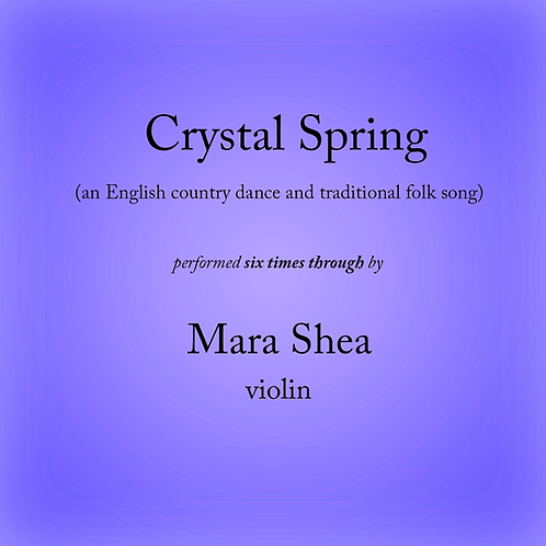 Crystal Spring - an English country dance