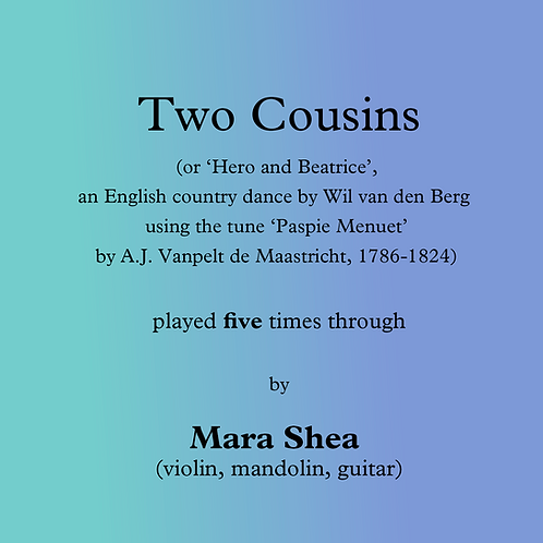 Two Cousins - an English country dance
