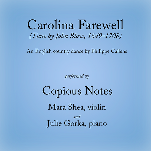 Carolina Farewell - an English country dance