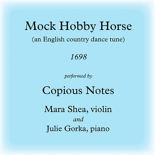 Mock Hobby Horse - an English country dance