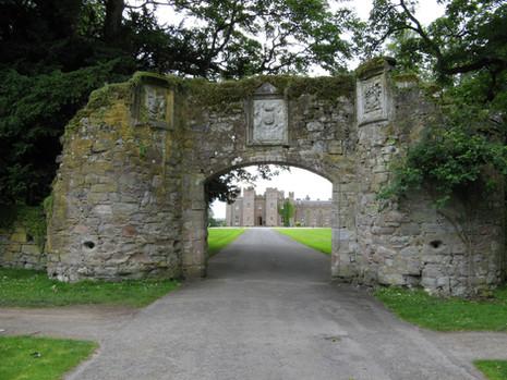 Scone Castle gate