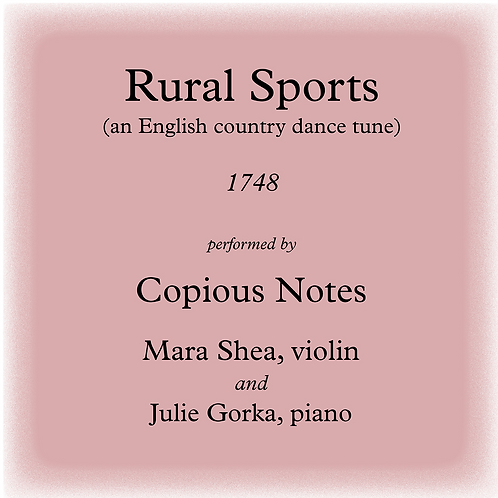 Rural Sports - an English country dance