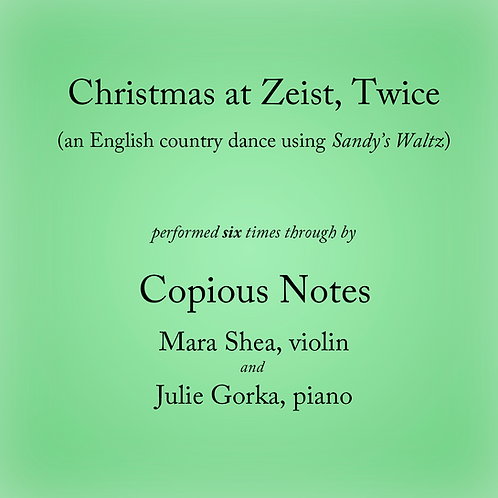 Christmas at Zeist - an English country dance (6 times)