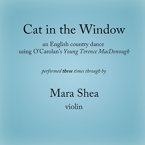 Cat in the Window (3x) - an English country dance (3 times)