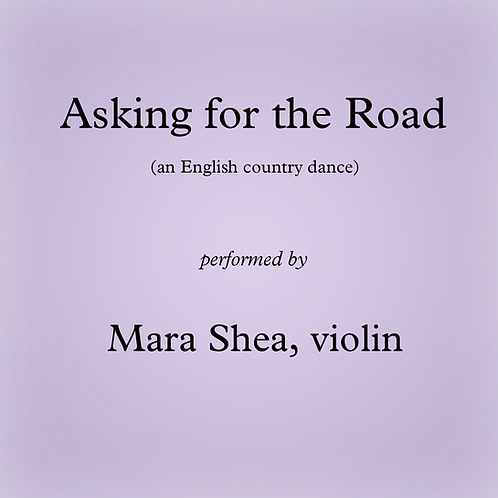 Asking for the Road - an English country dance