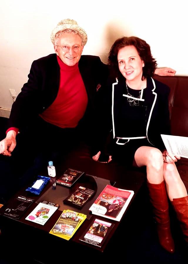 Florence Bouvrot en compagnie de Nelson Monfort - Interview pour Cour des Artistes - Aligre FM