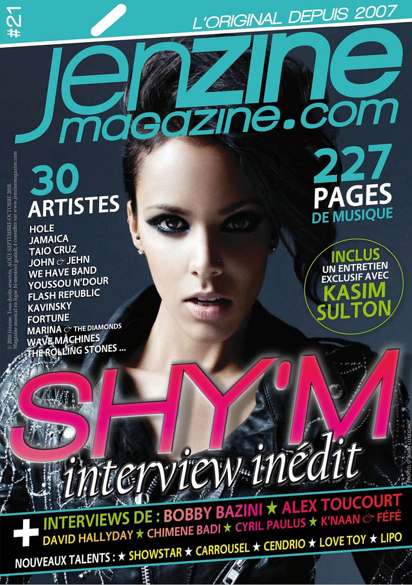 Couverture Jénzine Magazine Florence Bou