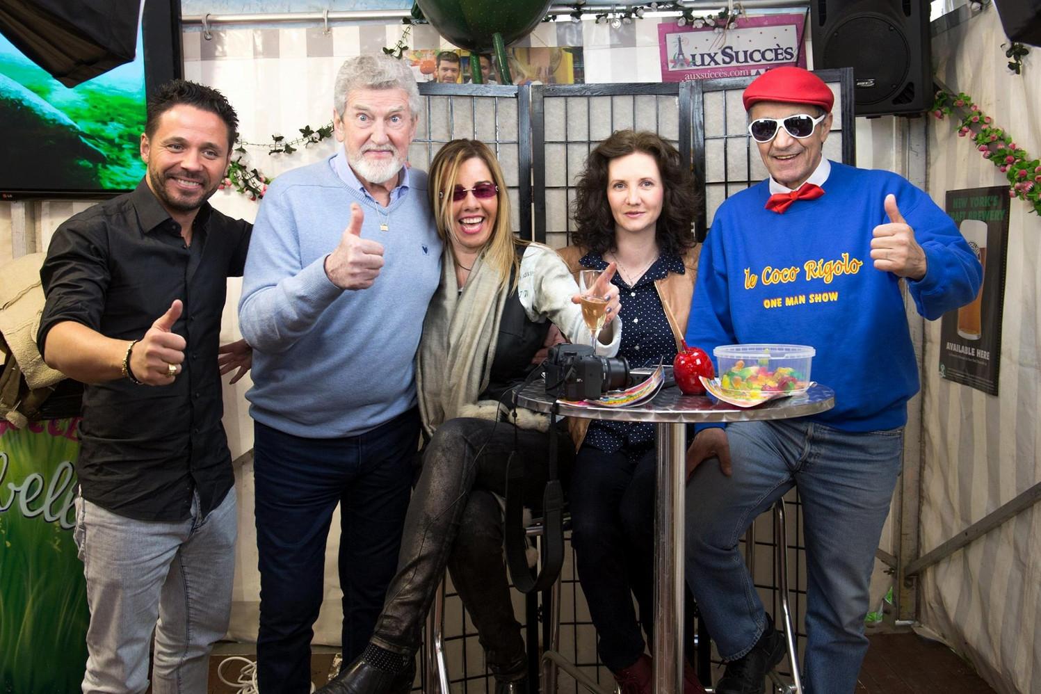 Morgan Joubert, Patrick Préjean, Chris Gabriel, Florence Bouvrot, Philippe Wintouski - Sur la Pellicule - Photo : Jean-José Caddy