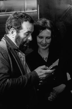 Florence Bouvrot & le réalisateur Mario Feroce - Sur la Pellicule - Photo : Jean-José Caddy
