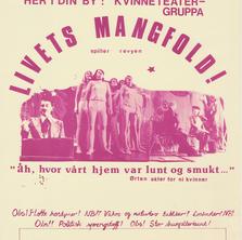Teaterplakat for Livets Mangfold