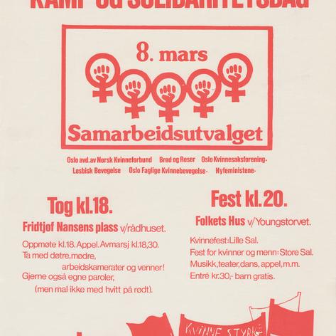 8. mars plakat
