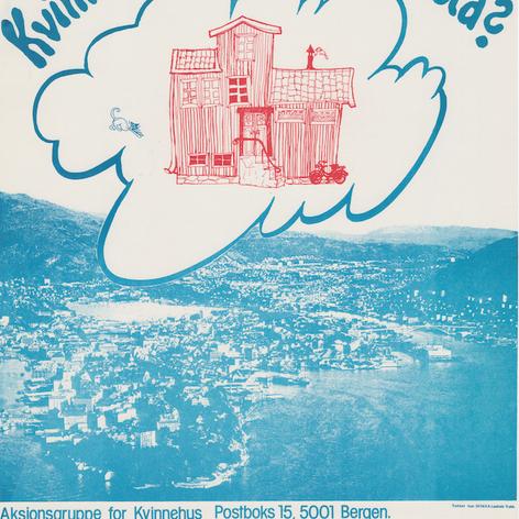 Plakat til Kvinnehusgruppa i Bergen