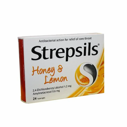 Strepsils Bal ve Limon Aromalı Pastil 24