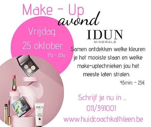 Kopie van Make - Up Workshop IDUN Minera